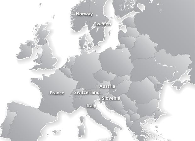 Grey Europe map
